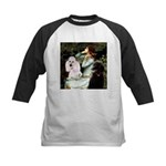 Ophelia / Poodle pair Kids Baseball Jersey