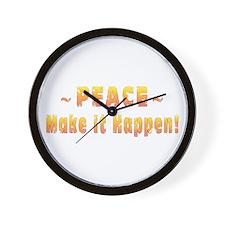 Peace-Make It Happen! Wall Clock
