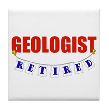 Retired Geologist Tile Coaster