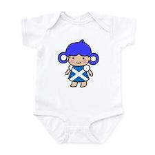 Girl in Scottish Flag Infant Bodysuit