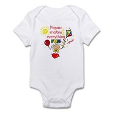 Papaw Fun Girl  Infant Bodysuit