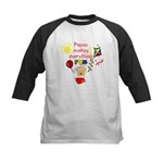 Papou Fun Girl Kids Baseball Jersey