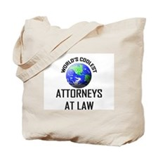 World's Coolest ATTORNEYS AT LAW Tote Bag