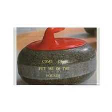 Unique Curling stone Rectangle Magnet (10 pack)