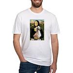 Mona Lisa (new) & Saluki Fitted T-Shirt
