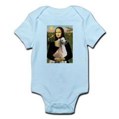 Mona Lisa (new) & Saluki Infant Bodysuit
