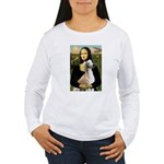 Mona Lisa (new) & Saluki Women's Long Sleeve T-Shi