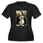 Mona Lisa (new) & Saluki Women's Plus Size V-Neck