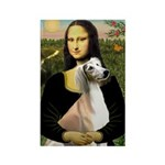 Mona Lisa (new) & Saluki Rectangle Magnet