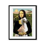 Mona Lisa (new) & Saluki Framed Panel Print