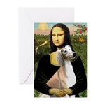 Mona Lisa (new) & Saluki Greeting Cards (Pk of 20)