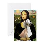 Mona Lisa (new) & Saluki Greeting Card