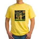 Starry Night / Saluki Yellow T-Shirt