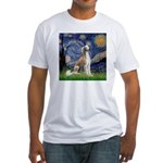 Starry Night / Saluki Fitted T-Shirt