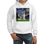 Starry Night / Saluki Hooded Sweatshirt