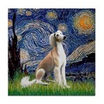 Starry Night / Saluki Tile Coaster