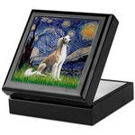 Starry Night / Saluki Keepsake Box