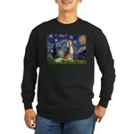Starry Night / Saluki Long Sleeve Dark T-Shirt