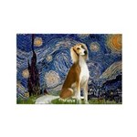 Starry Night / Saluki Rectangle Magnet
