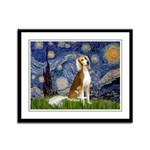 Starry Night / Saluki Framed Panel Print