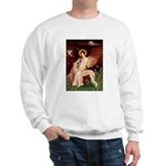 Seated Angel / Saluki Sweatshirt