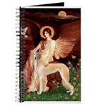 Seated Angel / Saluki Journal