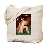 Seated Angel / Saluki Tote Bag
