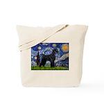 Starry Night / Schnauzer Tote Bag