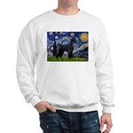 Starry Night / Schnauzer Sweatshirt