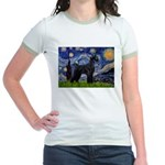 Starry Night / Schnauzer Jr. Ringer T-Shirt