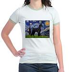 Starry Night / Schnauzer Jr. Ringer T-Shirt