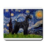 Starry Night / Schnauzer Mousepad