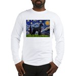 Starry Night / Schnauzer Long Sleeve T-Shirt