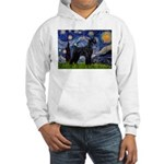 Starry Night / Schnauzer Hooded Sweatshirt