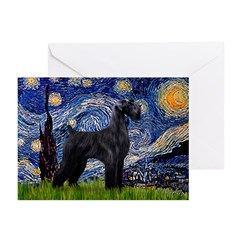 Starry Night / Schnauzer Greeting Cards (Pk of 10)