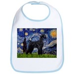 Starry Night / Schnauzer Bib