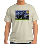 Starry Night / Schnauzer Light T-Shirt