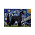 Starry Night / Schnauzer Rectangle Magnet