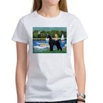 SCHNAUZER & SAILBOATS Women's T-Shirt