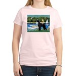 SCHNAUZER & SAILBOATS Women's Light T-Shirt