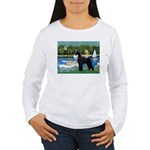 SCHNAUZER & SAILBOATS Women's Long Sleeve T-Shirt