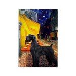 Cafe & Giant Schnauzer Rectangle Magnet