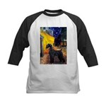 Cafe & Giant Schnauzer Kids Baseball Jersey