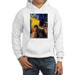 Cafe & Giant Schnauzer Hooded Sweatshirt