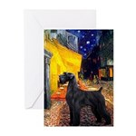 Cafe & Giant Schnauzer Greeting Cards (Pk of 10)