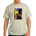 Cafe & Giant Schnauzer Light T-Shirt