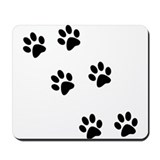 Walk-On-Me Pawprints Mousepad