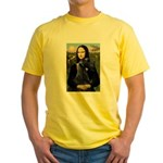 Mona Lisa /giant black Schnau Yellow T-Shirt