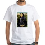 Mona Lisa /giant black Schnau White T-Shirt