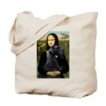 Mona Lisa /giant black Schnau Tote Bag